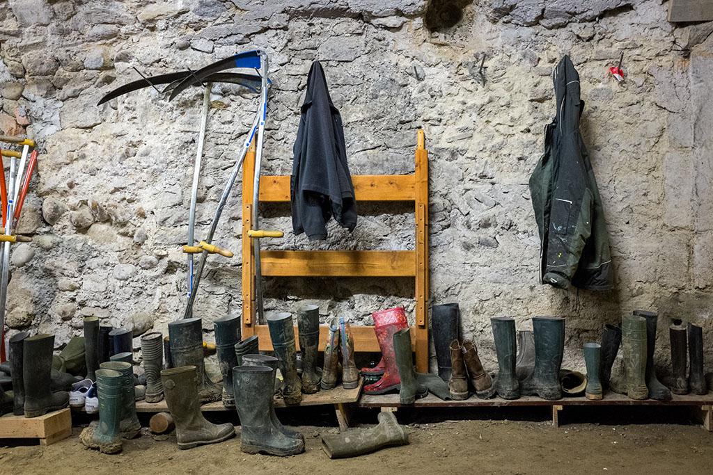 Les bottes pour le jardin.