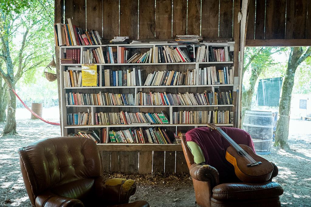 Bibliothèque en libre-accès.